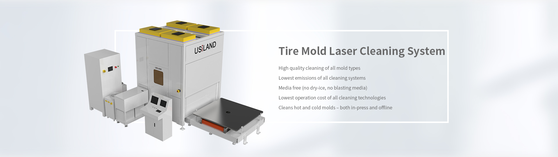 Tire mold laser cleaning system